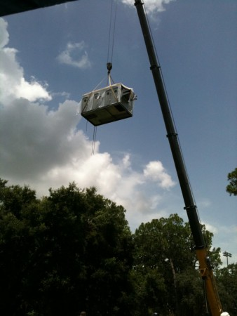 Entomology Nematology HVAC Upgrades   Setting Unit on Roof 37